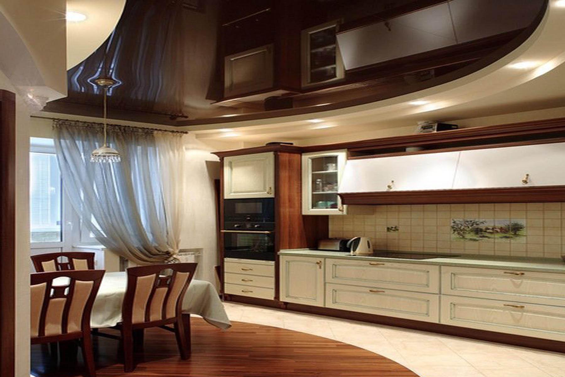 Дизайн потолков для кухни картинки
