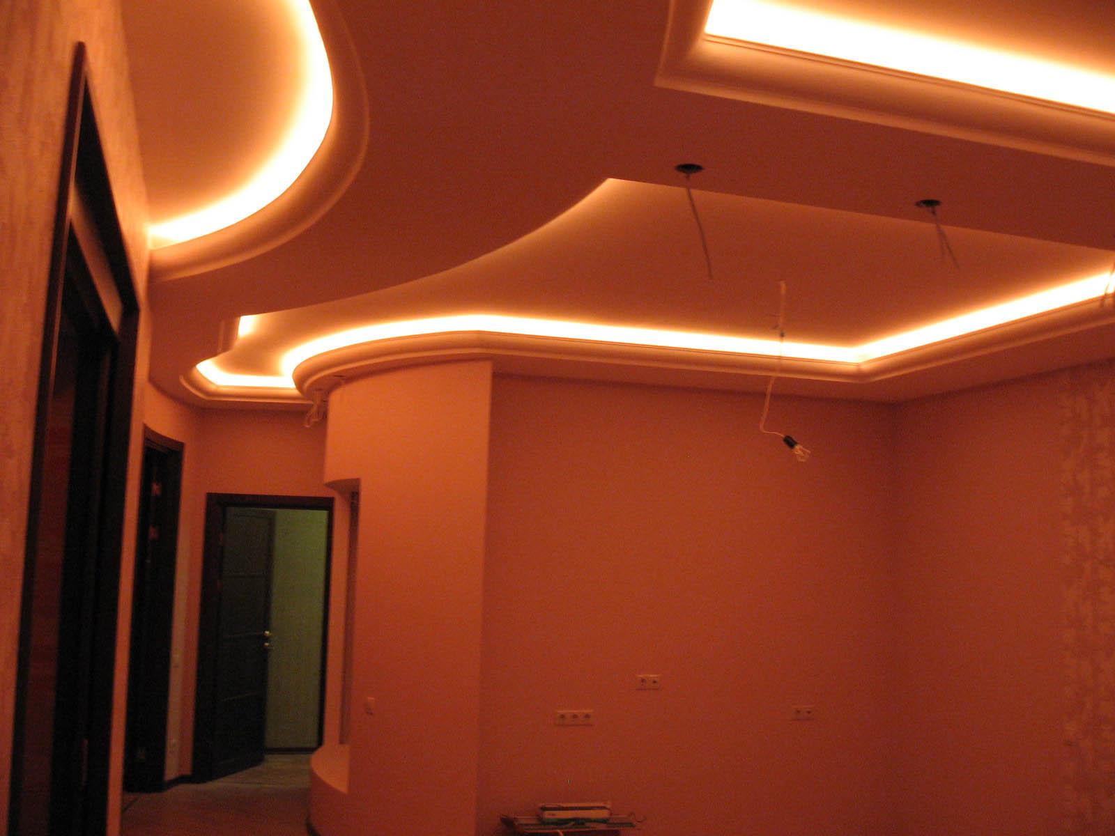 Светодиодная подсветка потолка своими руками фото
