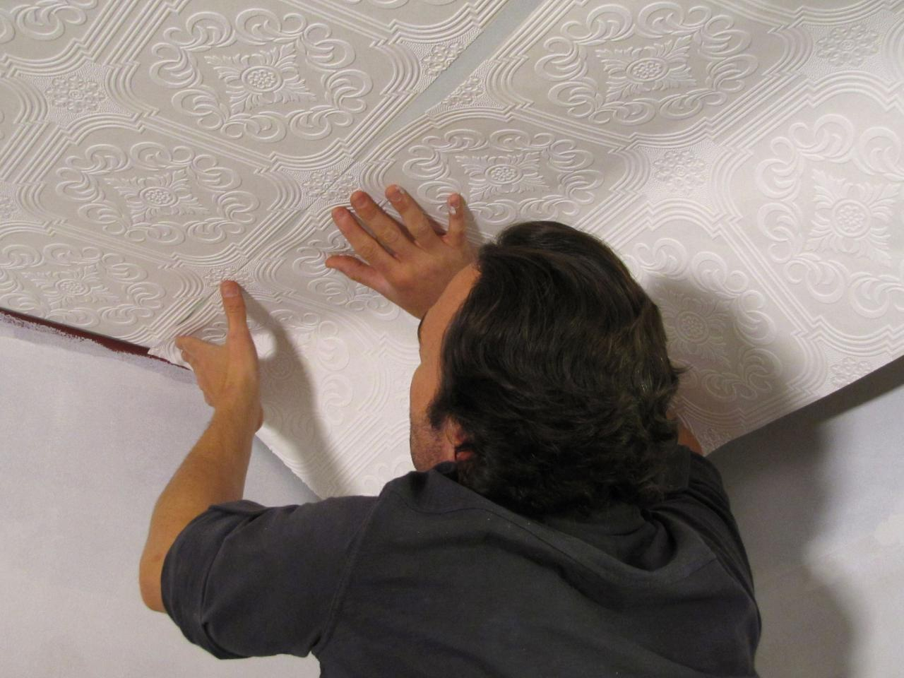 крутой картинки оклейка потолка обоями одной самых
