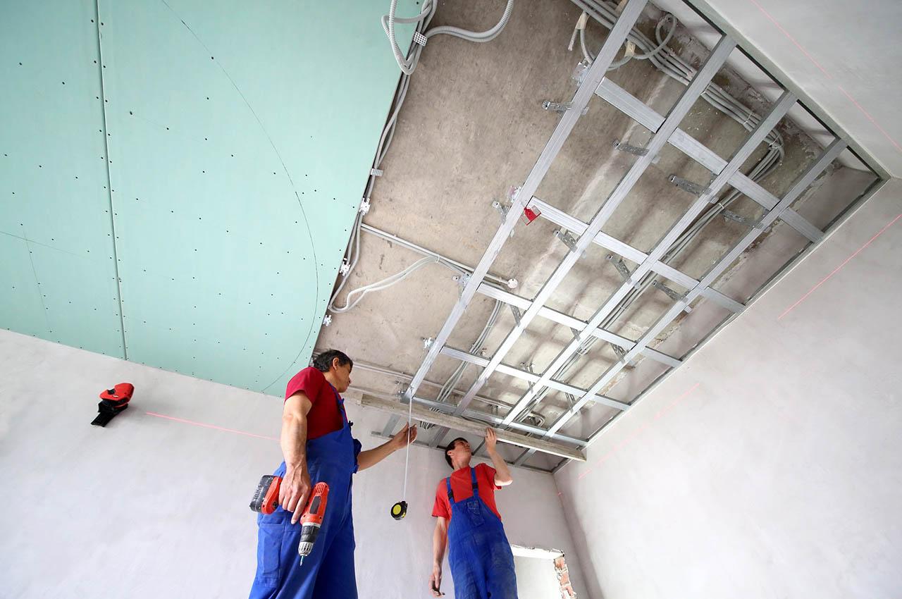 Как сделать потолок из гипсокартона своими руками пошагово