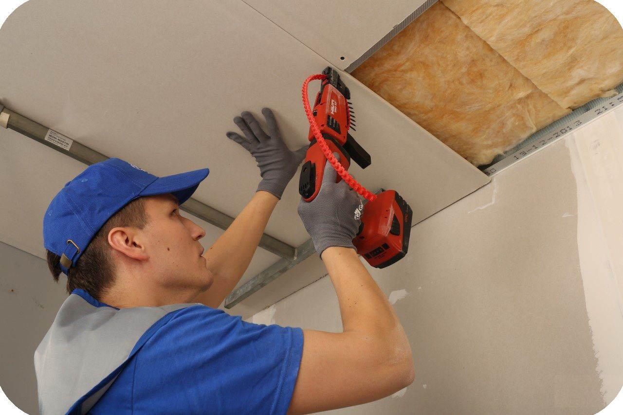 Как обшить потолок гипсокартоном своими руками