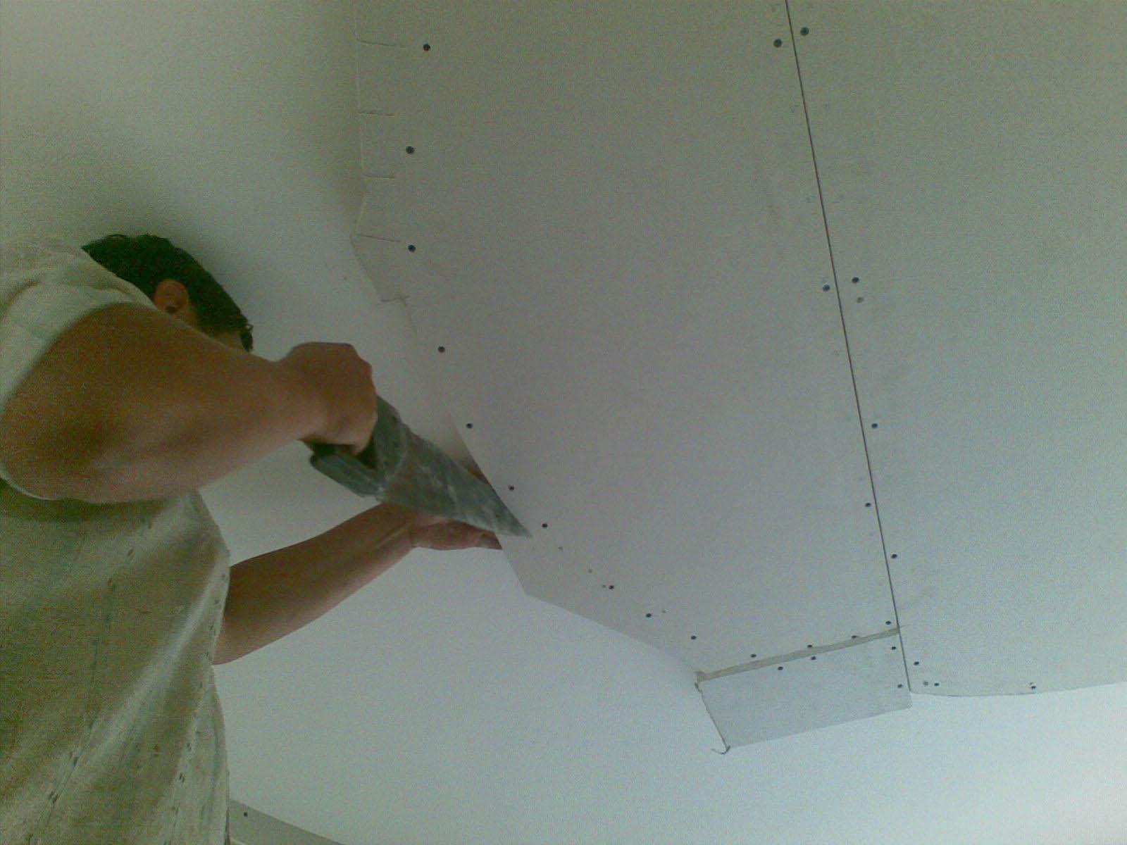 Пошаговая инструкция по монтажу гипсокартонного потолка своими руками с подробными фото