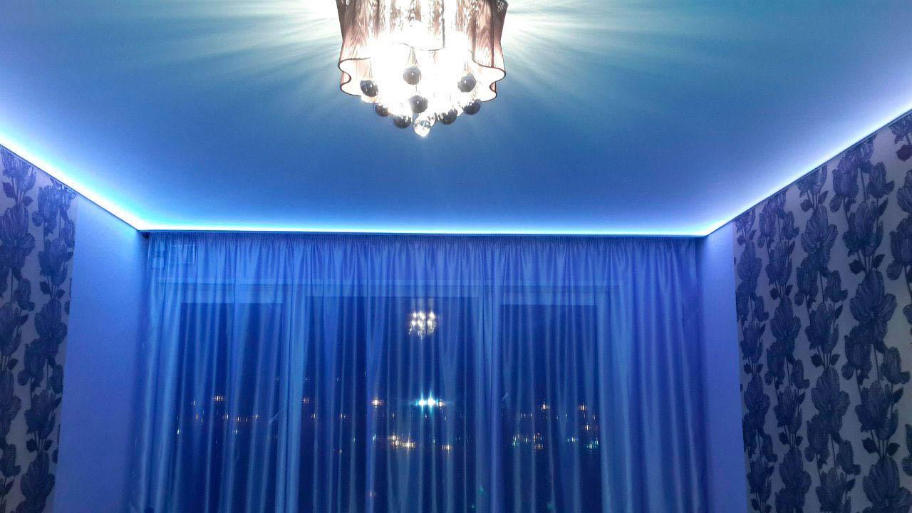 Подсветка штор своими руками