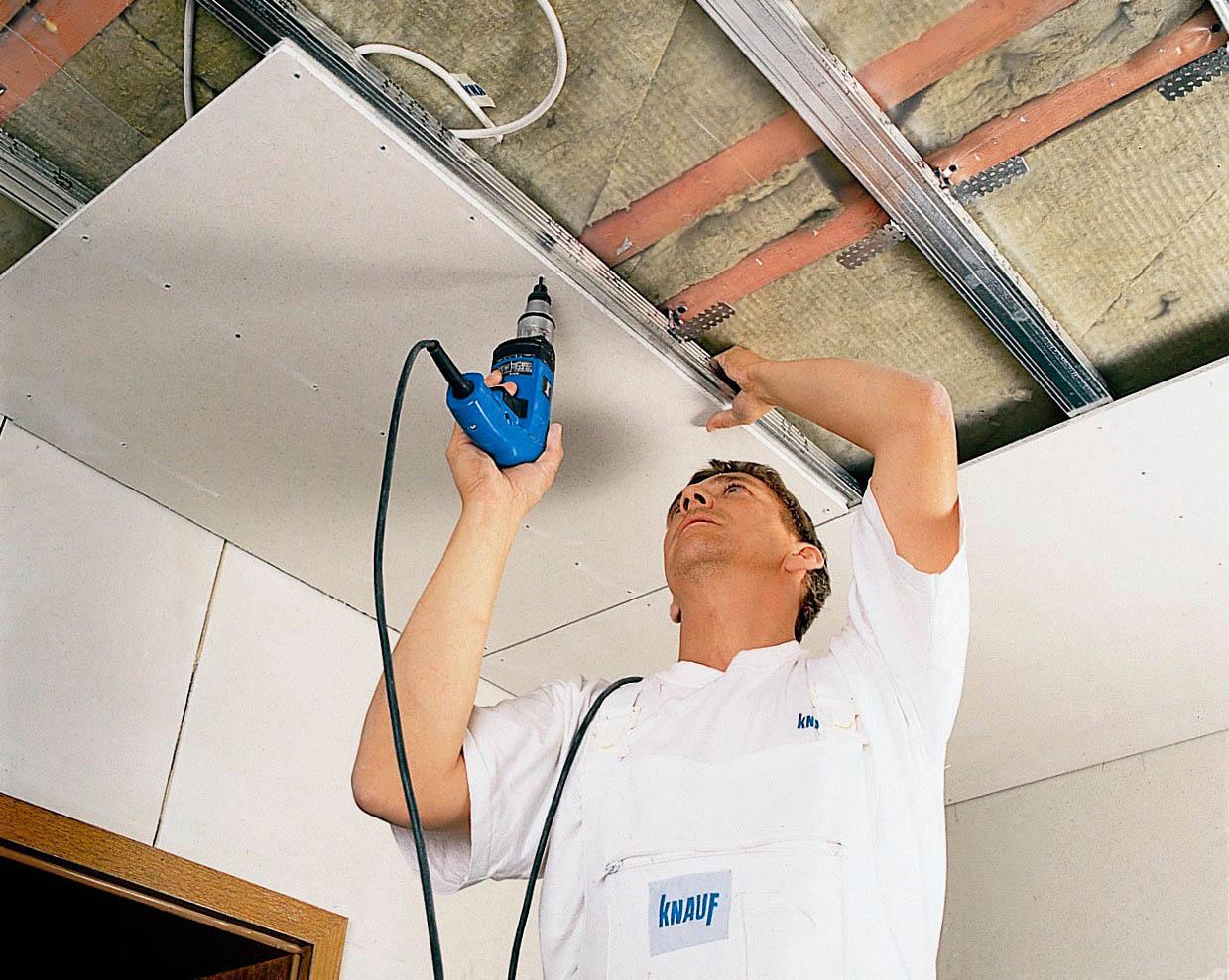 расценка потолок из гипсокартона