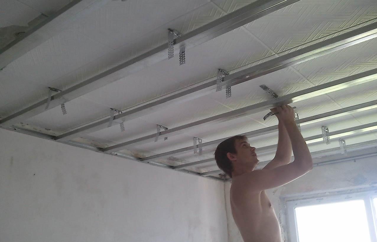 Установка натяжных потолков своими руками пошаговая инструкция
