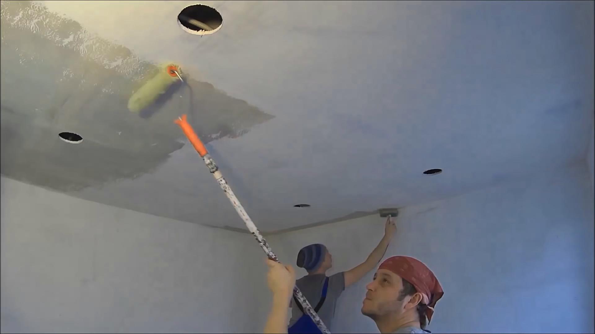 Подготовка гипсокартонного потолка под покраску своими руками