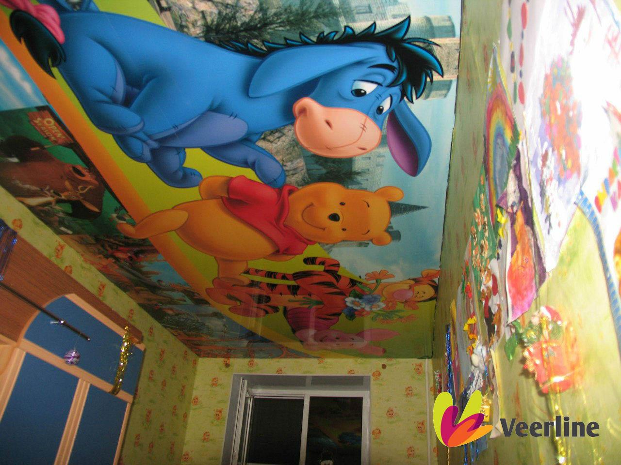 Фотопечать картинки для потолка детской комнаты